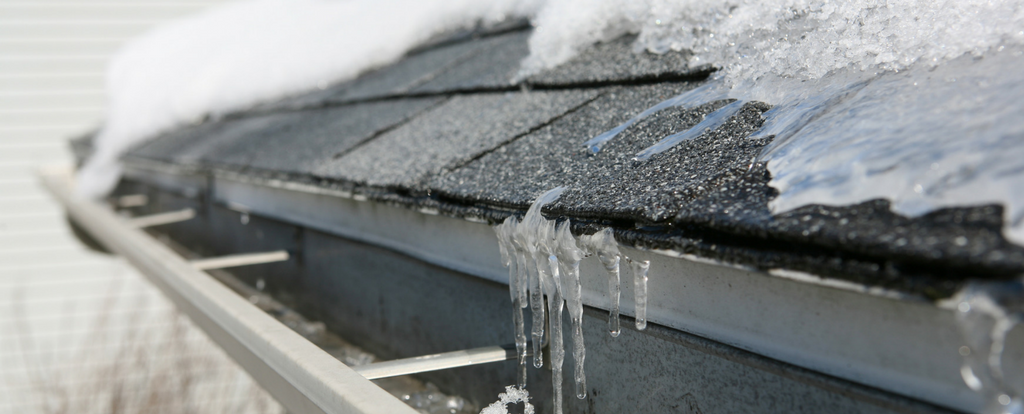 prevent icicles on roof